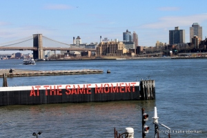 AT THE SAME MOMENT - Lawrence Weiner