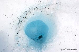 Blue hole. Matanuska Glacier.