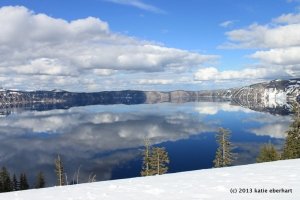 Crater Lake. March 29, 2013.