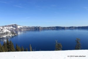 Thin ice on Crater Lake. March 30, 2013
