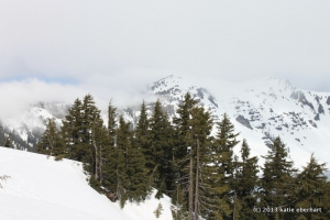 Mountains west of Crater Lake. March 31, 2013.