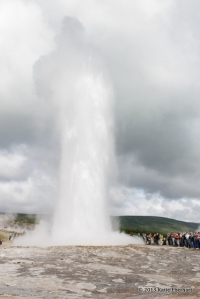 The geyser Strokkur erupts. Iceland. 2011.