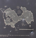Plaque at Fort Rock: map of the Pleistocene lake